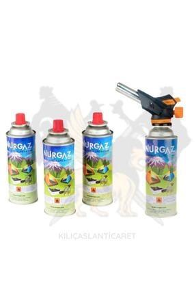Nurgaz Firebird Torch 4 Adet Kartuşlu Set 0