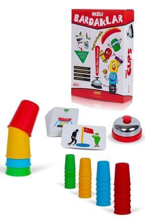 BEMİ Süper Hızlı Pratik Bardaklar - Akıl Hafıza Mantık Eğitici Zeka Strateji Çocuk Ve Aile Kutu Oyunu 0