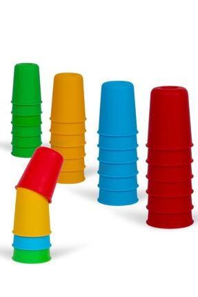 BEMİ Süper Hızlı Pratik Bardaklar - Akıl Hafıza Mantık Eğitici Zeka Strateji Çocuk Ve Aile Kutu Oyunu 2