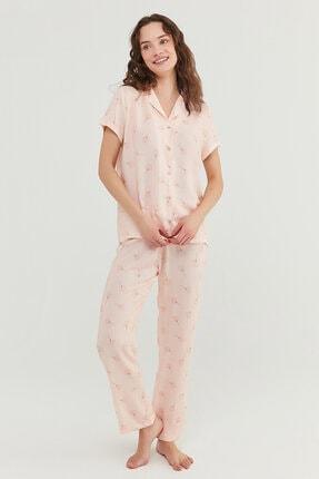 Penti Kadın Açık Pembe Pijama Takımı 1