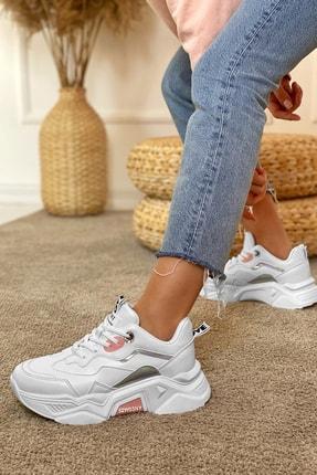 Dark Seer Kadın Beyaz Pudra Sneaker 2