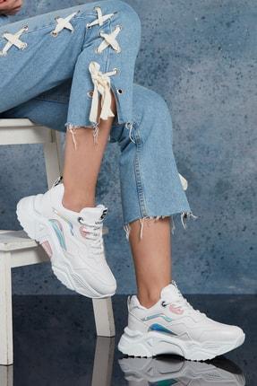 Dark Seer Kadın Beyaz Pudra Sneaker 3