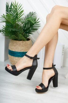 KILINÇ Kadın Siyah Platform Tek Bant Ayakkabı 0