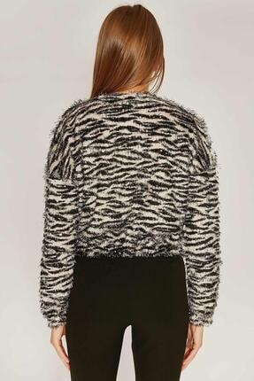 Pattaya Kadın Zebra Desen Sweatshirt F209 2