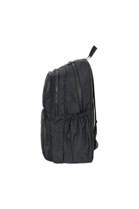 ÇantaExpress Unisex Siyah Krinkıl Kumaş Yeni Okul Ve Sırt Çantası 3