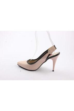 Kadın Pudra Topuklu Ayakkabı 2490