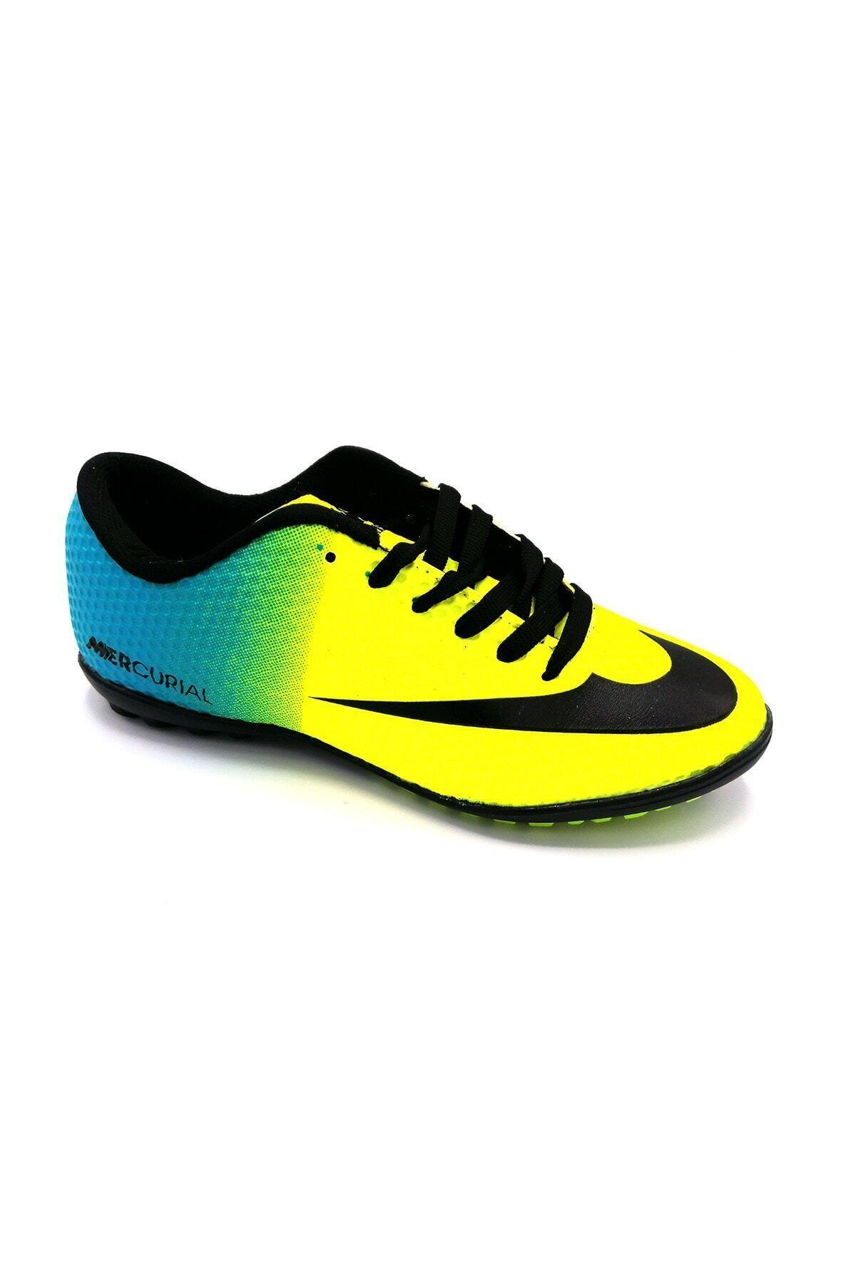 Sarı Halısaha Futbol Spor Ayakkabı