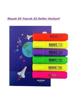 Osaka Fosforlu Kalem Canlı Renkler 6'lı Set 3