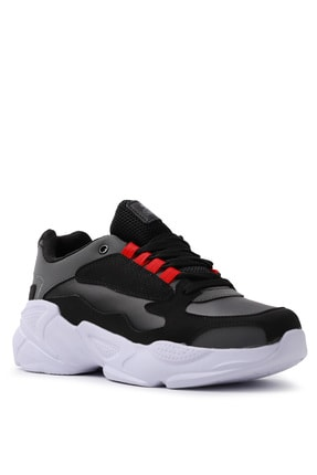 Slazenger ITALY Sneaker Kadın Ayakkabı Siyah / Beyaz SA20LK037 1