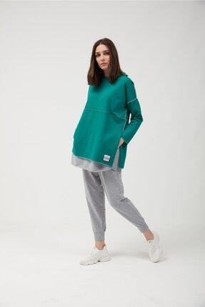 oia Yeşil Pamuklu Tunik Pantolon Takım Eşofman Takım 1