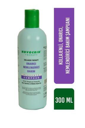 Novocrin Placenta Collagen Therapy Onarıcı Nemlendirici Bakım Şampuanı 300 ml 1