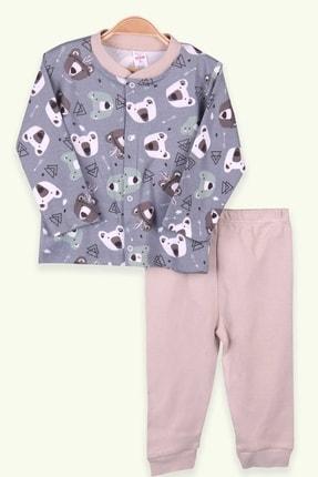 Picture of Erkek Bebek Pijama Takımı Ayıcıklı Indigo (0-3 Ay-9 Ay)