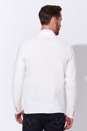 Hemington Erkek Beyaz Triko Ceket 2