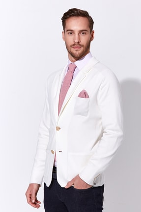 Hemington Erkek Beyaz Triko Ceket 3