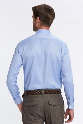Hemington Erkek Açık Mavi Balıksırtı Doku Non-ıron Business Gömlek 2