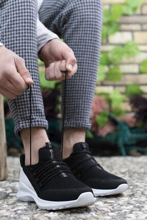 Riccon Siyah Beyaz Erkek Sneaker 0012180 2