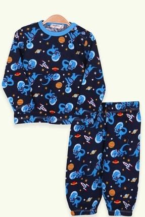 Picture of Erkek Bebek Lacivert Uzay Temalı Pijama Takımı