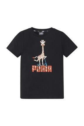 Puma Unisex Çocuk Spor T-Shirt Paw Tee Puma Black 58622101 0