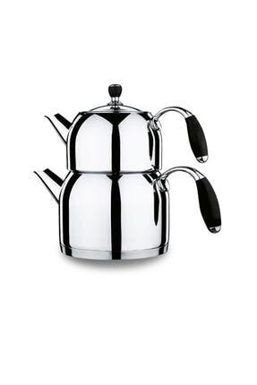 KORKMAZ Flora Siyah Maxi Çaydanlık Takımı A119 0