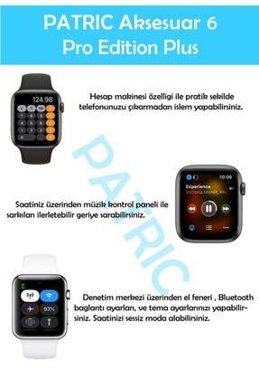 PATRİC Smartwatch 6 Pro Edition Plus - Yeni Versiyon Android Ve Ios Uyumlu Çelik Kordon Akıllı Saat 4