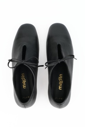 Marjin Kadın Siyah Hakiki Deri Günlük Ayakkabı Burlas 0
