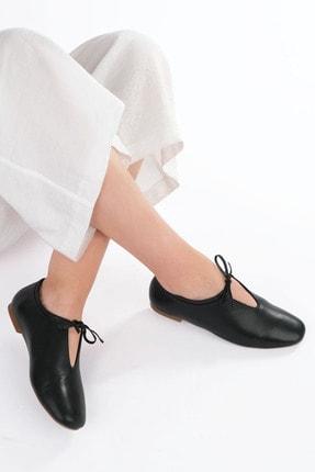 Marjin Kadın Siyah Hakiki Deri Günlük Ayakkabı Burlas 3