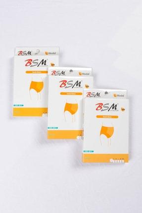 BSM 3'lü Kadın Ten Modal Geniş Rahat Hamile Külodu 1