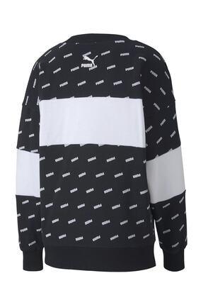 Puma Kadın Sudadera Crew Aop Logo Sweatshirt 4