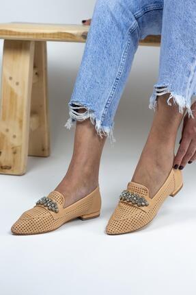 Gökhan Talay Reyla Taşlı Yazlık Kadın Loafer Günlük Ayakkabı 0