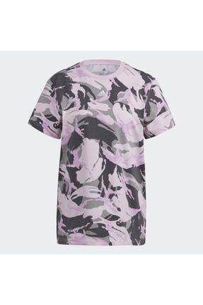 adidas Kadın Pembe Spor T-Shirt Gl7587 W Camo T 0