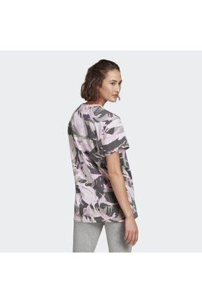 adidas Kadın Pembe Spor T-Shirt Gl7587 W Camo T 2