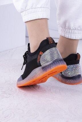 Guja Kadın Siyah Taşlı Fileli Spor Ayakkabı 1
