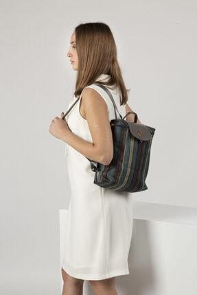 TH Bags Kadın / Kız Sırt Çantası Sırt Çizgili Kumaş - Th25300 1