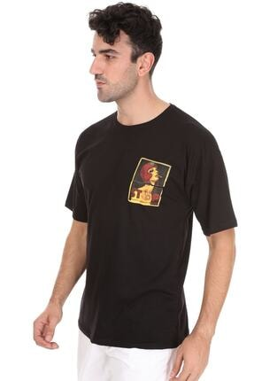 Millionaire Erkek Siyah Stop Oversize Unisex T-shirt 2