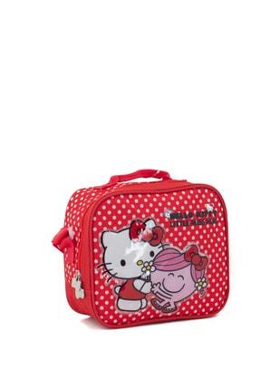 Hakan Çanta Kız Çocuk Kırmızı Lisanslı Hello Kitty Karakterli Beslenme Çantası 0