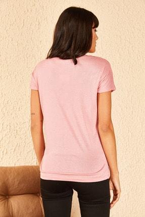 Bianco Lucci Kadın Billy Elliot Baskılı Viskon Tshirt 4