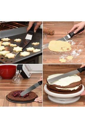 Bahar Dükkanı Oval Uçlu Eğik Pasta Sıvama Spatulası 20 Cm 0