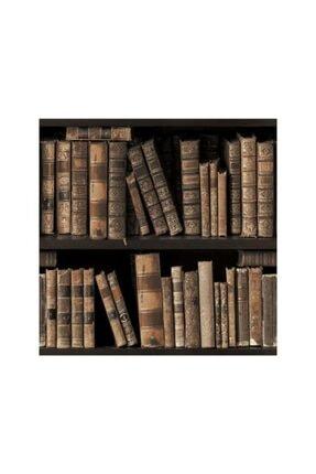 DEKOALİS DEKOR Kitaplık Desenli Duvar Kağıdı 1