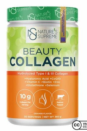 Natures Supreme Beauty Collagen Powder 360 gr - Portakal 0
