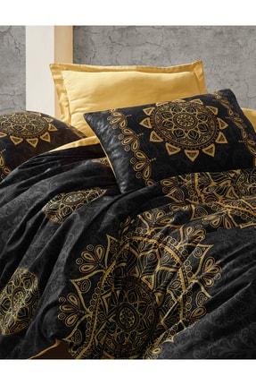 Cotton Box Saten Çift Kişilik Nevresim Takımı Alvina Gold 1