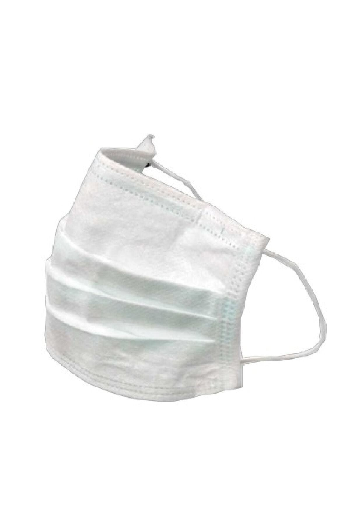 50 Adet Telli 3 Katlı Ultrasonik Cerrahi Burun Telli Maske - Ce Belgeli Sterilize Kutu