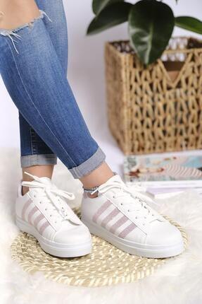 Oksit Lara Şeritli Kadın Sneaker 2
