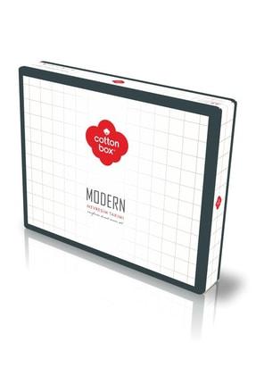 Cotton Box Modern Çift Kişilik Nevresim Takımı Stark Tarçın 2