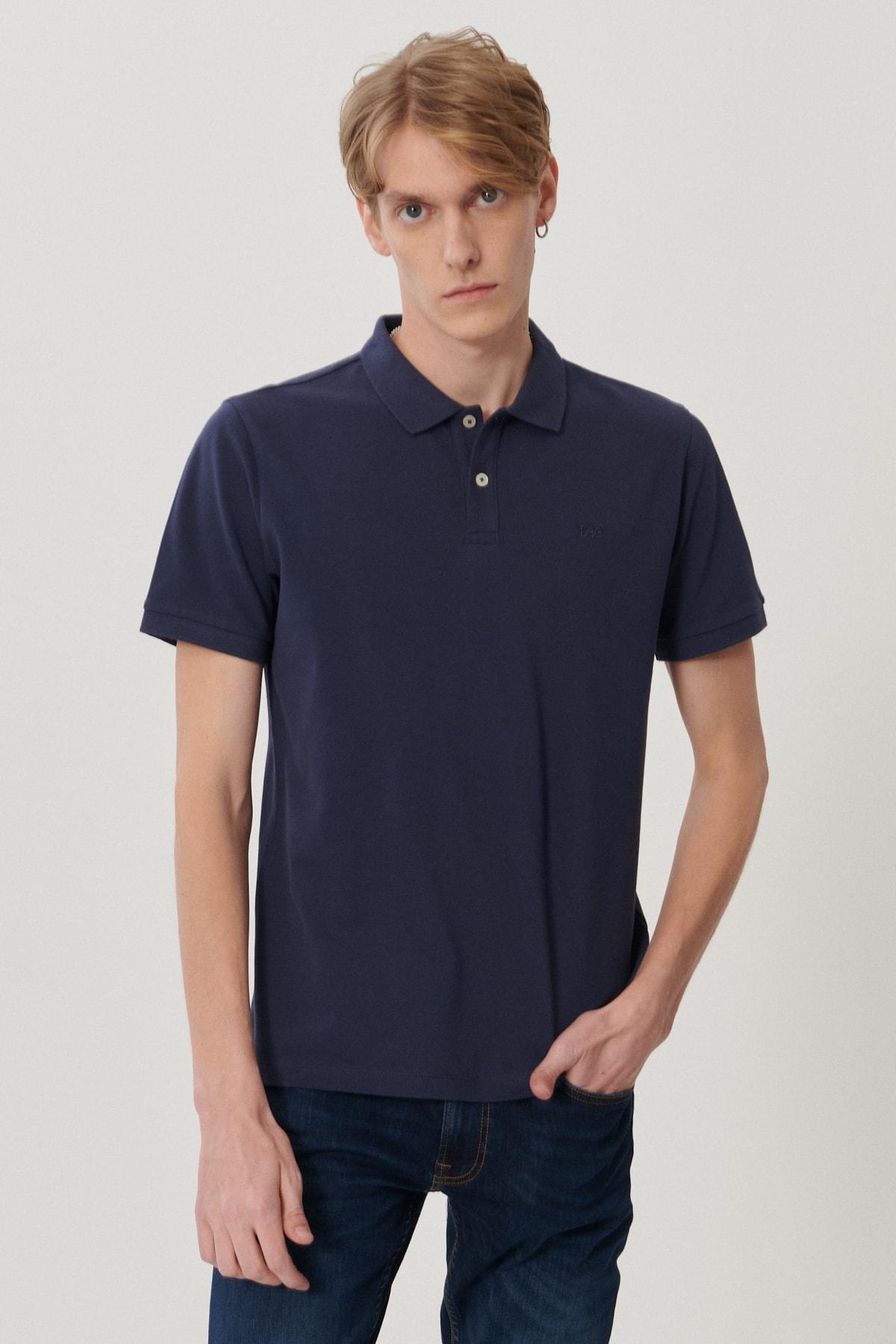Erkek Lacivert Regular Fit Polo Yaka T-Shirt