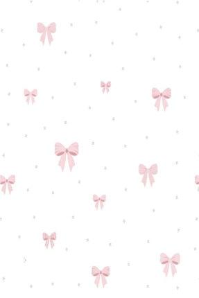 Milky Baby 415-1 Pembe Kurdele Desenli Çocuk Duvar Kağıdı (5 M²) 1