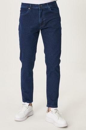 Altınyıldız Classics Erkek Lacivert Regular Fit Bol Kesim Denim Esnek Jean Kot Pantolon 0