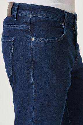 Altınyıldız Classics Erkek Lacivert Regular Fit Bol Kesim Denim Esnek Jean Kot Pantolon 1
