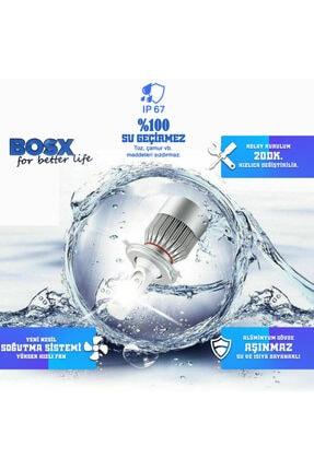 C9 Bosx Iceblue Buz Mavi Led Xenon Far Ampulü 4400lm 10000k H4 2