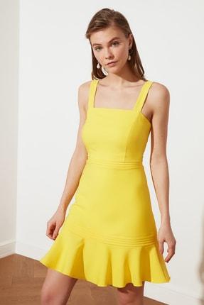 TRENDYOLMİLLA Sarı Askılı Elbise TWOSS20EL2504 0