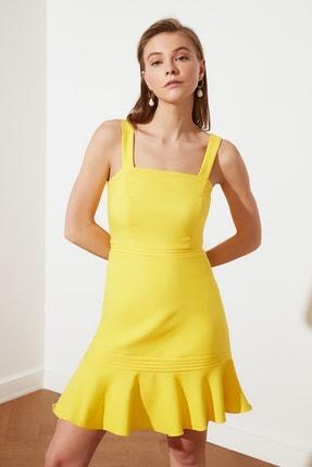 TRENDYOLMİLLA Sarı Askılı Elbise TWOSS20EL2504 1